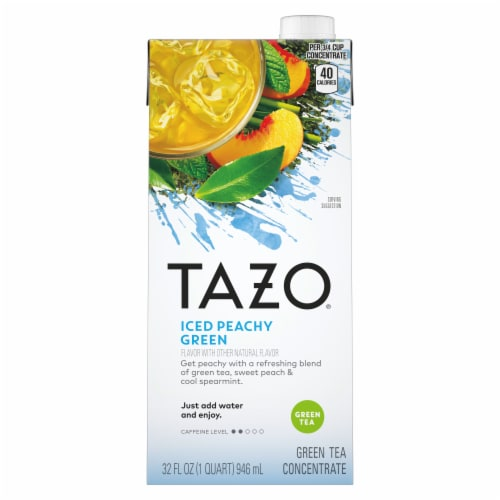 Tazo Iced Peachy Green Tea Perspective: front
