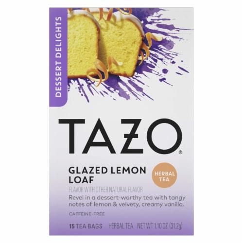 Tazo Dessert Delights Glazed Lemon Loaf Herbal Tea Bags Perspective: front