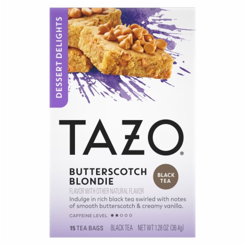Tazo Butterscotch Blondie Tea Bags Perspective: front