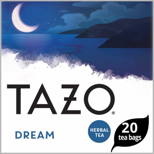 Tazo Dream Caffeine Free Herbal Tea Bags Perspective: front