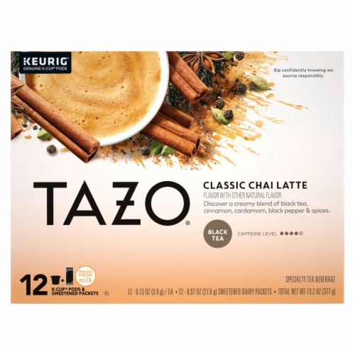 Tazo Classic Chai Tea Latte K-Cup Pods Perspective: front