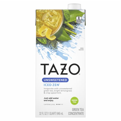 Tazo Iced Zen Unsweetened Green Tea Concentrate Perspective: front