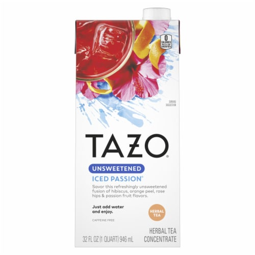 Tazo Iced Passion Unsweetened Herbal Tea Concentrate Perspective: front