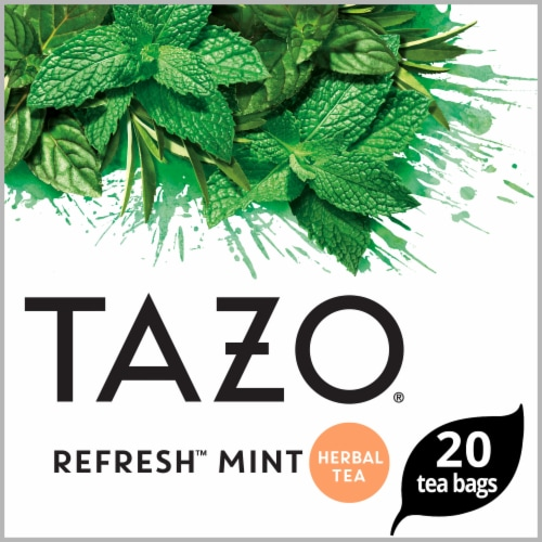 Tazo Refresh Mint Herbal Tea Bags Perspective: front