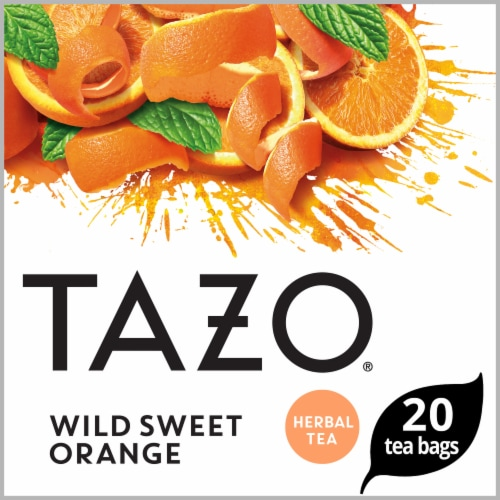 Tazo Wild Sweet Orange Herbal Tea Bags Perspective: front