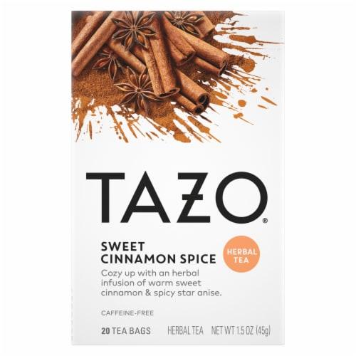 Tazo Sweet Cinnamon Spice Caffeine-Free Tea Bags Perspective: front