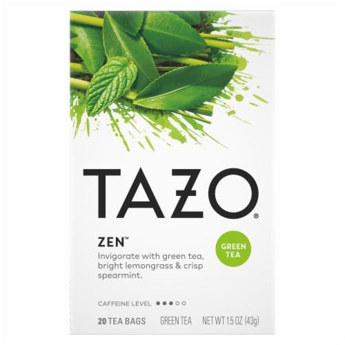 Tazo Zen Green Tea Bags Perspective: front