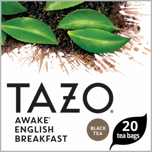 Tazo Awake English Breakfast Black Tea Bags Perspective: front