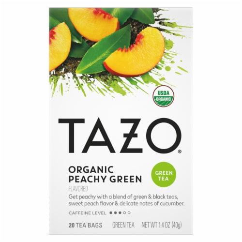 Tazo Organic Peachy Green Tea Perspective: front