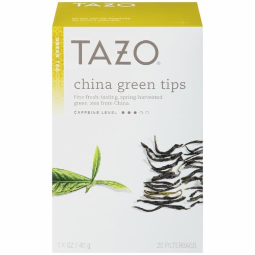 Tazo China Green Tips Tea Perspective: front