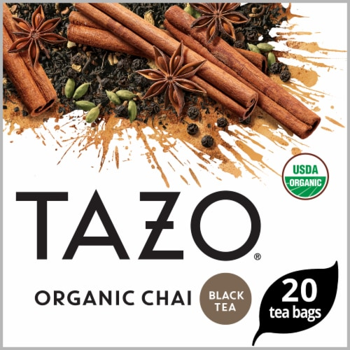 Tazo Organic Chai Black Tea Bags Perspective: front