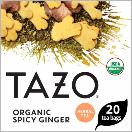 Tazo Organic Spicy Ginger Tea Perspective: front