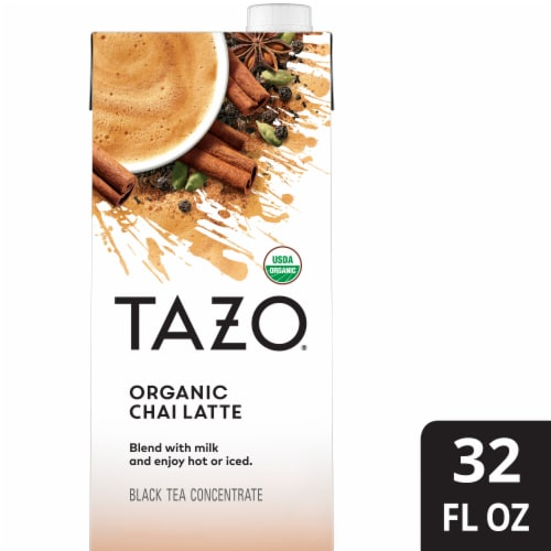 Tazo Organic Chai Latte Black Tea Concentrate Perspective: front