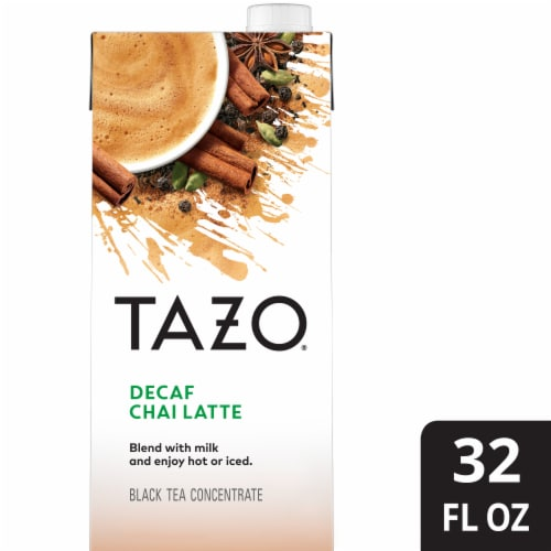 Tazo Decaf Chai Latte Black Tea Concentrate Perspective: front