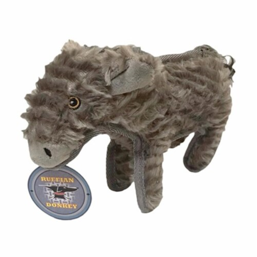 Steel Dog 54415 Ruffian Donkey Toy with Tennis Ball, 3 x 6.25 x 10.5 in. Perspective: front