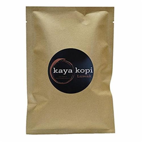 Premium Kaya Kopi Luwak Indonesia Wild Palm Civets Arabica Light Roast Coffee Beans 50 grams Perspective: front