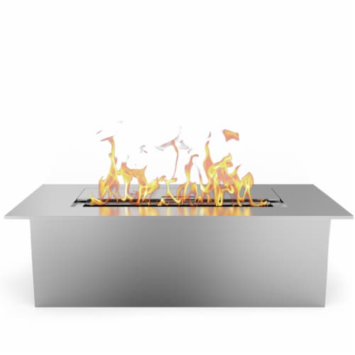 Regal Flame Slim 12 Inch Bio Ethanol Fireplace Burner Insert 1.5 Liter. Perspective: front