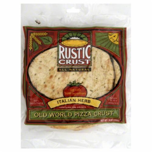 Rustic Crust Italian Herb Pizza Crusts Perspective: front