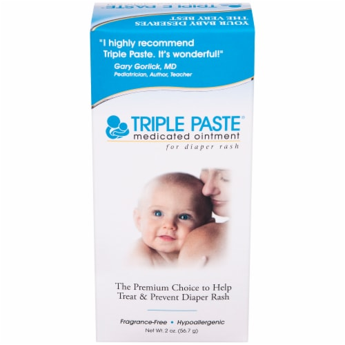Triple Paste Medicated Diaper Rash Ointment Perspective: front