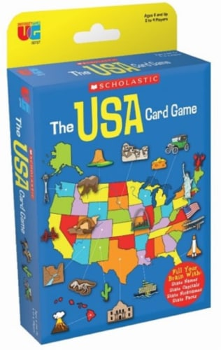 University Games Scholastic The USA Card Game Perspective: front