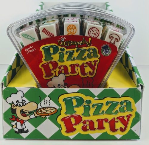 University Games Pizza Party Dice Game Perspective: front