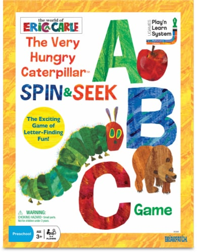 University Games The Very Hungry Caterpillar Spin & Seek ABC Game Perspective: front
