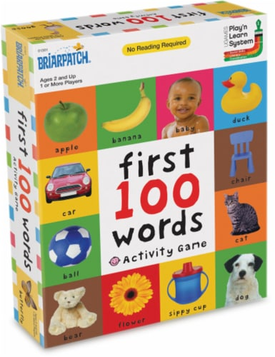 University Games First 100 Words Activity Game Perspective: front