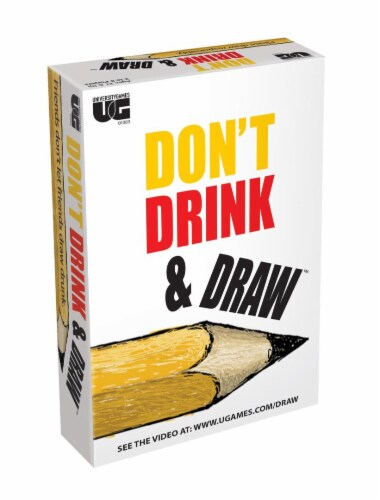 University Games Don't Drink and Draw Board Game Perspective: front