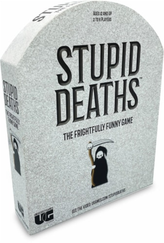 University Games Stupid Deaths Board Game Perspective: front