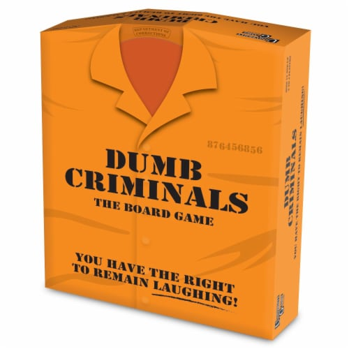 University Games Dumb Criminals Board Game Perspective: front