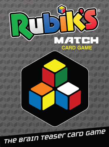 University Games Rubiks Match Card Game Perspective: front