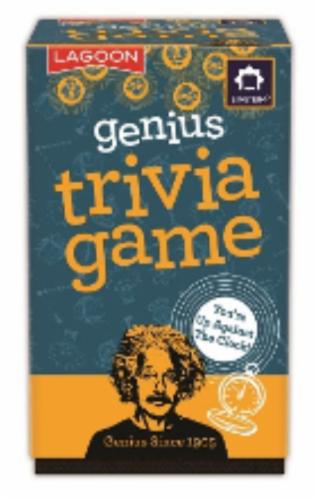 University Games Genius Trivia Board Game Perspective: front