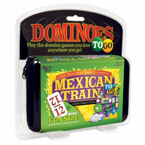 University Games UNV54202 Mexican Train To-Go Perspective: front