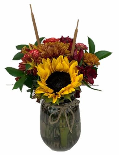 The Queen's Flowers Harvest Arrangement Perspective: front