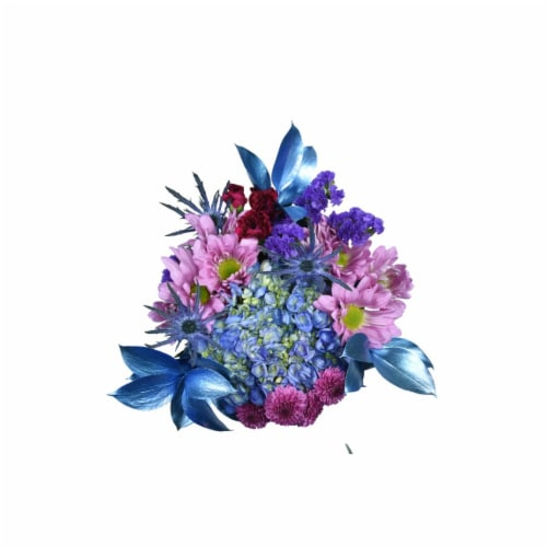 Blueberry Bliss Floral Bouquet Perspective: front