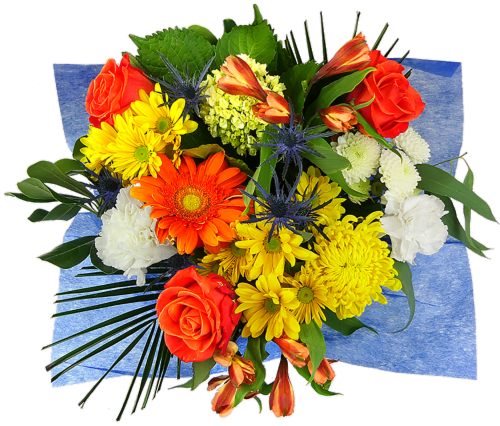 Rhapsody Sunny and Chic Mixed Bouquet Perspective: front