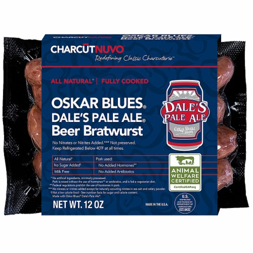 CharcutNuvo Dale's Pale Ale Beer Bratwurst Perspective: front