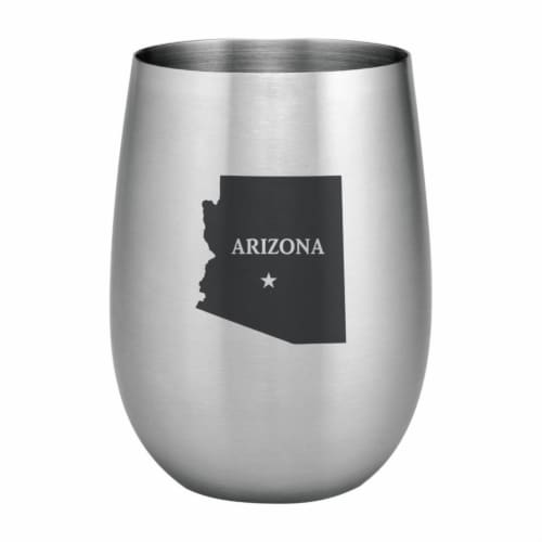 Supreme Housewares 20oz Stainless Steel Glass, Arizona Perspective: front