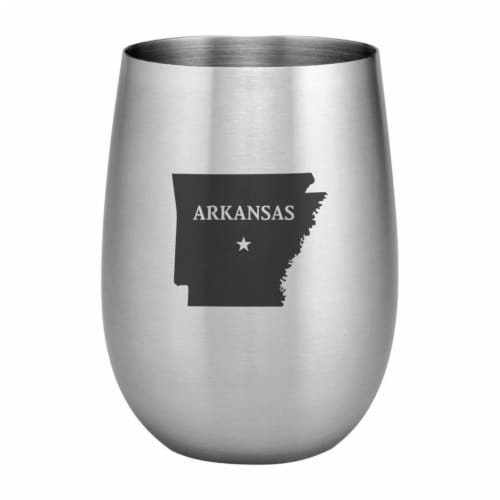 Supreme Housewares 20oz Stainless Steel Glass, Arkansas Perspective: front