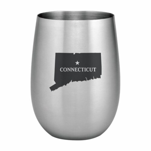 Supreme Housewares 20oz Stainless Steel Glass, Connecticut Perspective: front
