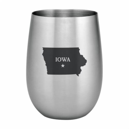 Supreme Housewares 20oz Stainless Steel Glass, Iowa Perspective: front