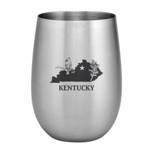 Supreme Housewares 20oz Stainless Steel Glass, Kentucky Perspective: front