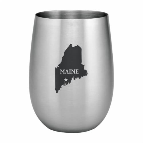 Supreme Housewares 20oz Stainless Steel Glass, Maine Perspective: front