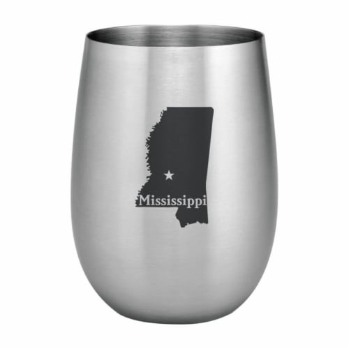Supreme Housewares 20oz Stainless Steel Glass, Mississippi Perspective: front