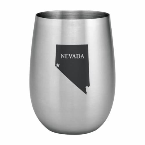 Supreme Housewares 20oz Stainless Steel Glass, Nevada Perspective: front