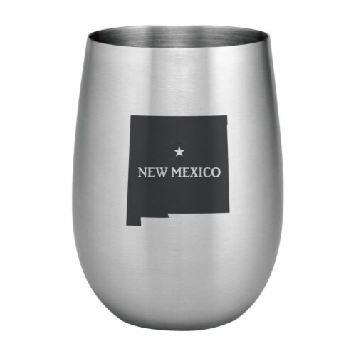 Supreme Housewares 20oz Stainless Steel Glass, New Mexico Perspective: front