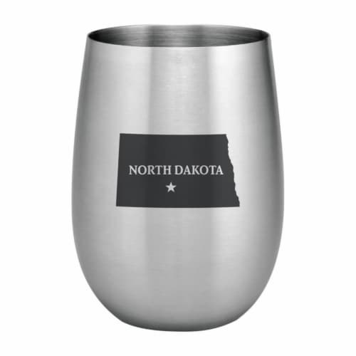 Supreme Housewares 20oz Stainless Steel Glass, North Dakota Perspective: front