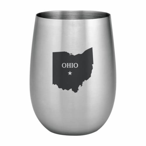Supreme Housewares 20oz Stainless Steel Glass, Ohio Perspective: front