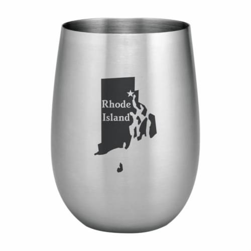Supreme Housewares 20oz Stainless Steel Glass, Rhode Island Perspective: front