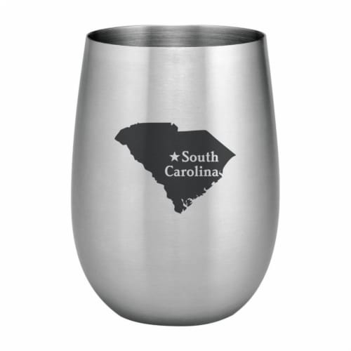 Supreme Housewares 20oz Stainless Steel Glass, South Carolina Perspective: front